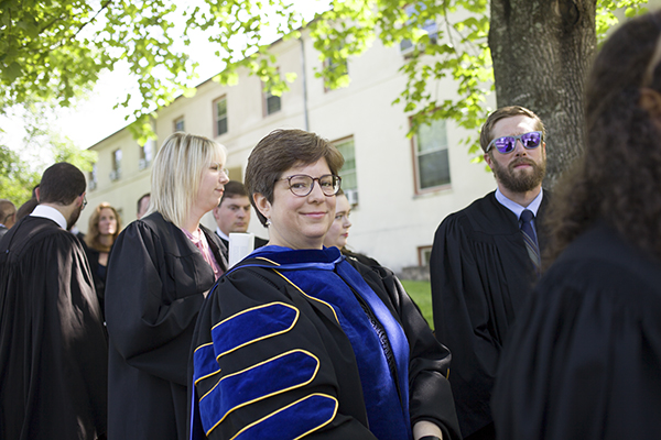 Faculty member at Commencement